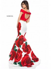 51850 - Red Print (Sherri Hill)