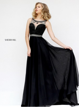 11320 - Black/Silver (Sherri Hill)