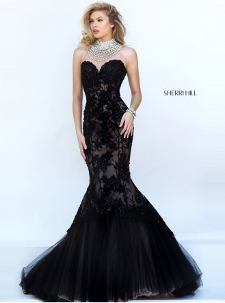 50356 - Black/Nude (Sherri Hill)