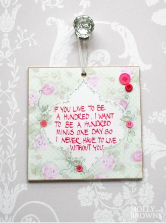 If You Live To Be A Hundred Wall Plaque