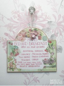 Mums Bed And Breakfast Sign