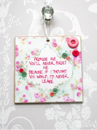 Promise Me Wall Plaque