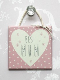 Best Mum - Small Square Wall Plaque