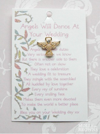 Wedding Gold Angel Pin
