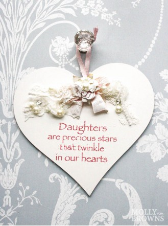 Daughter Heart Shaped Plaque