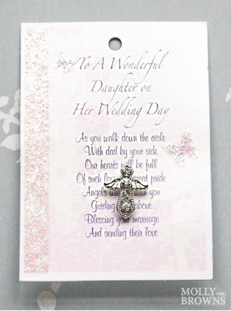 Daughter On Her Wedding Day Silver Angel Pin