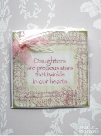 Daughters Are Stars - Decorated Greetings Card