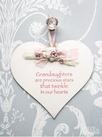 Granddaughter Heart Shaped Plaque