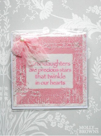 Granddaughters Are Precious - Decorated Greetings Card