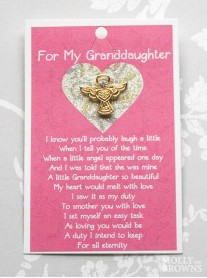 Granddaughters Gold Angel Pin