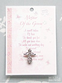 Mother Of The Groom Silver Angel Pin