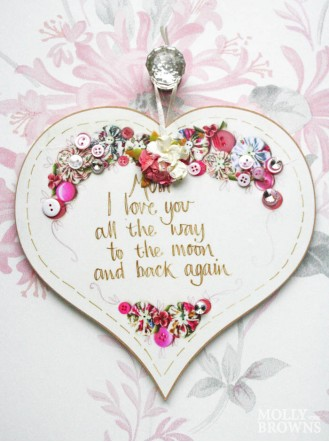 Mum, I Love You - Heart Wall Plaque