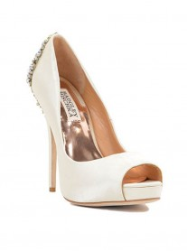 Alyssa - Ivory Crystal Shoes