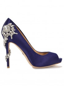 Savannah - Navy Crystal Shoes