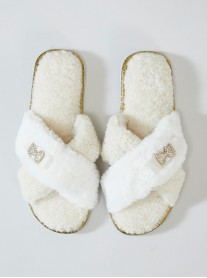 Ali Faux Fur Slippers - Cream