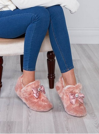 Vanna Faux Fur Slippers - Pink