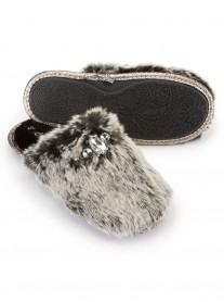 Vogue Faux Fur Slippers - Black