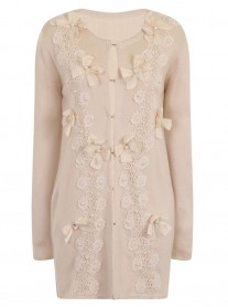Butterfly Long Cardigan - Cream (Soma London)