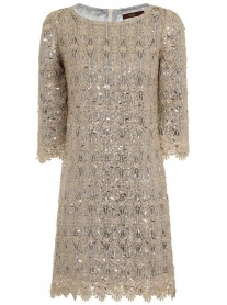 Sequin Shift Dress - Ice (Soma London)