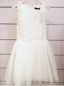 Sabrina Lace Dress - White