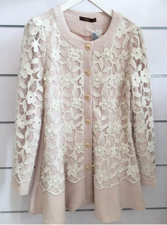 SS1608 - Pink Pearl Lace Coat (Soma)