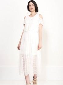 SS710 Pure White Maxi Lace Dress - White (Soma London)