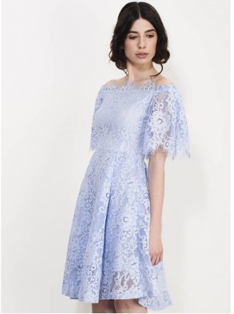 SS719 Square Up Lace Dress - Violet (Soma London)