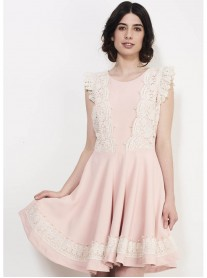 SS721 Flying Shoulders Dress - Pink (Soma London)