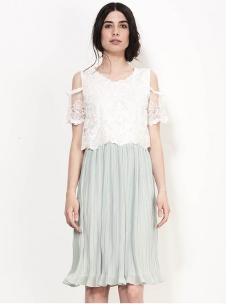 SS765 Pearl On Midi Dress - Mint (Soma London)