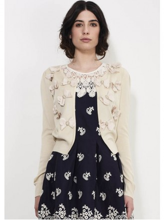 GD18 Butterfly Cardigan - Cream (Soma London)