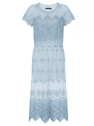 SS711 Glory Gold Lace Dress - Blue (Soma London)