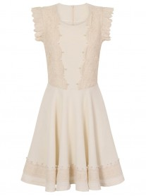 SS721 Flying Shoulders Dress - Ivory (Soma London)
