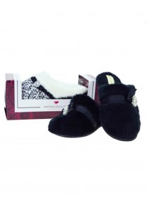 Luxury Slipper Mules - Black