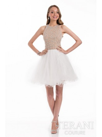 1521H0057 - Ivory/Nude (Terani Couture)