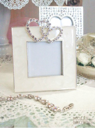 Eva Heart Frame - Cream (5x5)