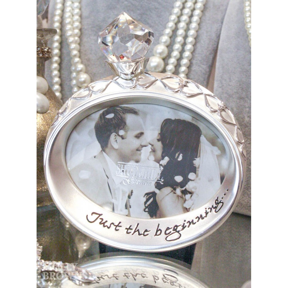 gifts wedding gifts silver crystal wedding ring photo frame