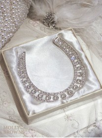 Silver Diamante Lucky Horse Shoe