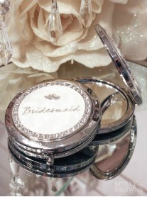 Diamante Bridesmaid Compact Mirror