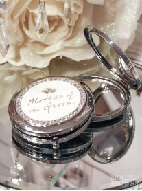 Diamante Mother Of The Groom Compact Mirror