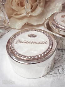 Diamante Bridesmaid Trinket Box