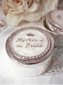 Diamante Mother Of The Bride Trinket Box