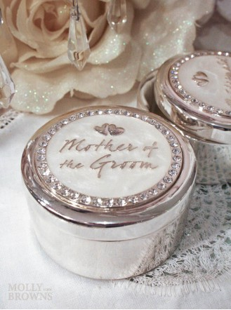 Diamante Mother Of The Groom Trinket Box
