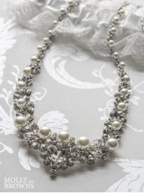 Crystal Pearl Silver Necklace