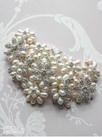 Diamante Beaded Cluster Hair Clip