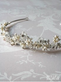 Diamante Beaded Floral Head Band