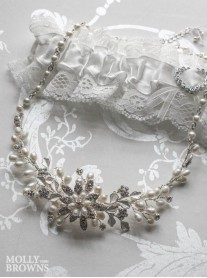 Diamante Beaded Floral Necklace