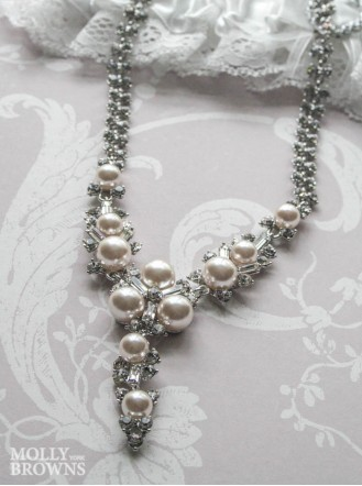 Ivory Pearl Diamante Crystal Necklace