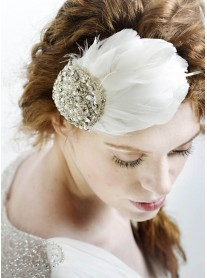Matilda Wedding Feather Hairpiece