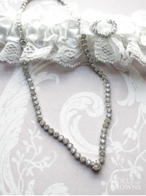 Silver Crystal Link Necklace