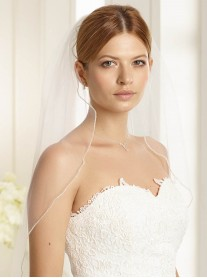 Wedding Veil K - Fingertip Length (Ivory)
